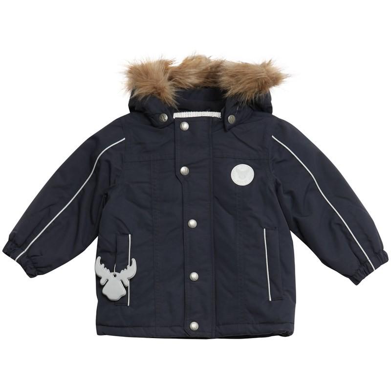 Wheat Jacket Valde Baby, Navy, marineblå vinterjakke til