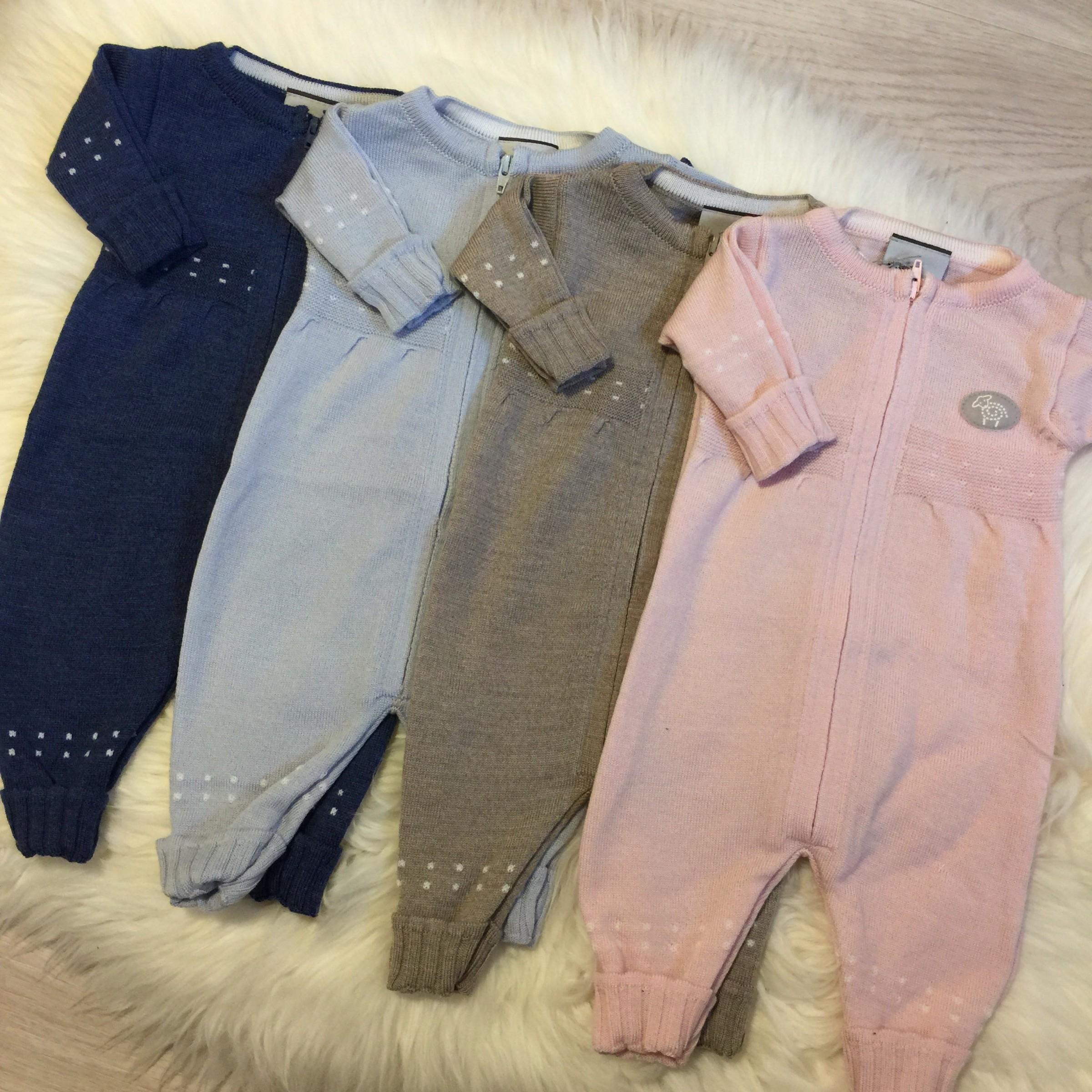 83301526b3a Lillelam Babysuit Thin Basic, tynn sommerdress i merinoull, blå ...