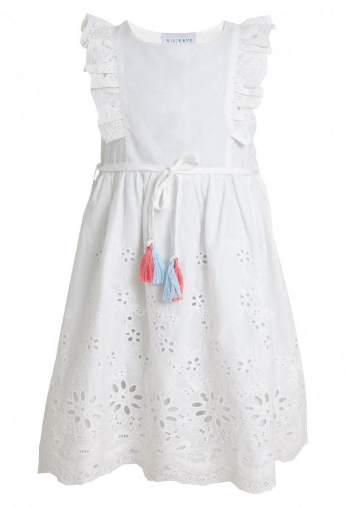 6593b1c5 Vilje og Ve barneklær Siri Dress, White, Hvit sommerkjole - Barn og Baby