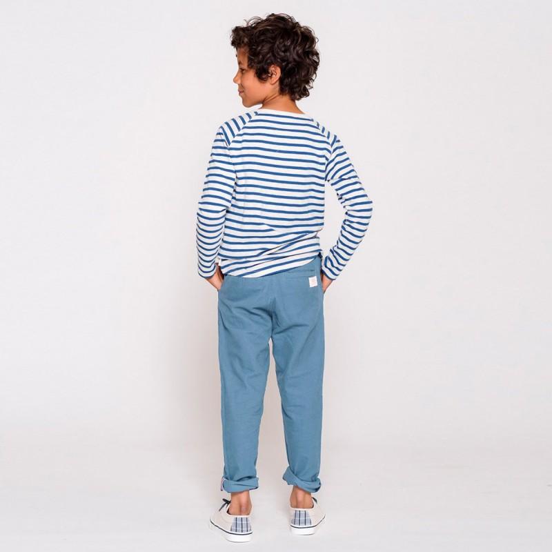 6601e6c84 Ebbe barneklær Sten Chinos Pant Faded denimblue, lyseblå bukse ...